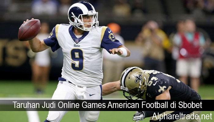 Taruhan Judi Online Games American Football di Sbobet